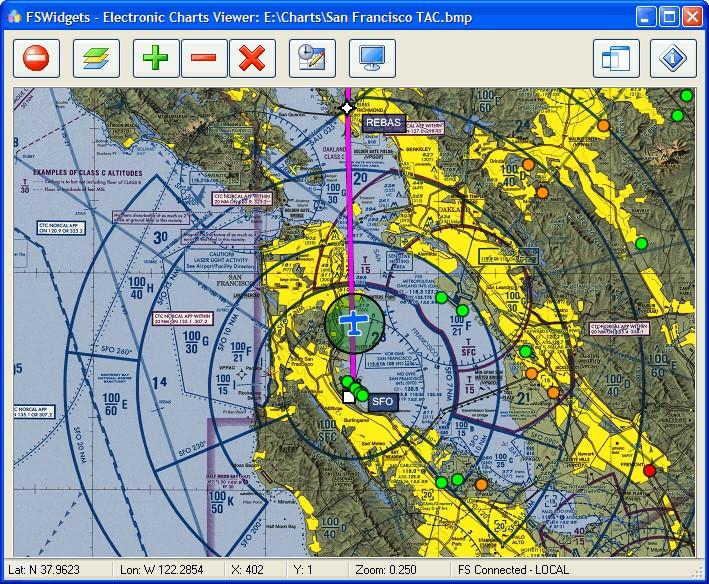 FSWidgets Electronic Charts Viewer for FS2004/X-Plane - Image No  02